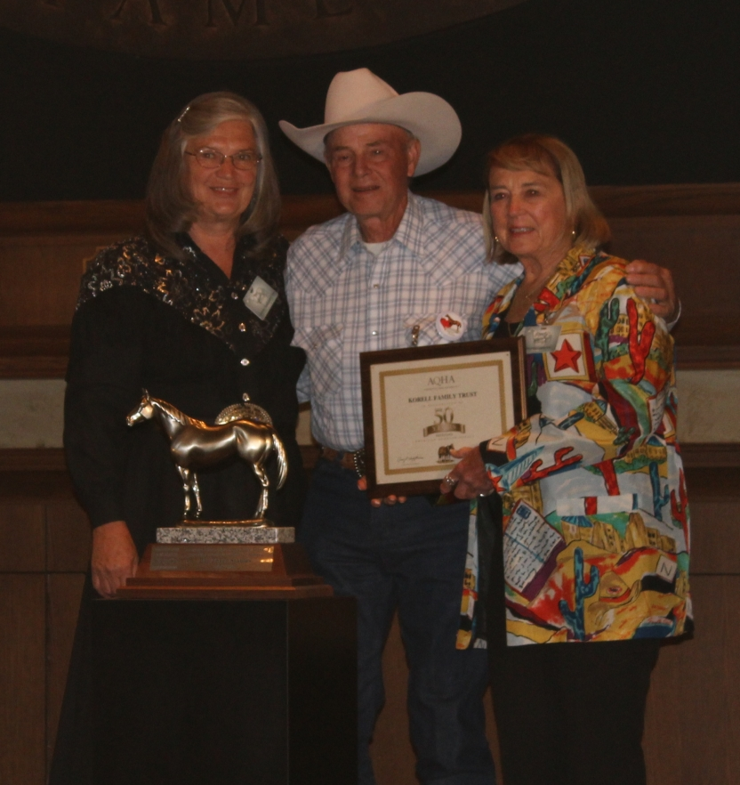 Iva and Jerry AQHA 50 year award.JPG